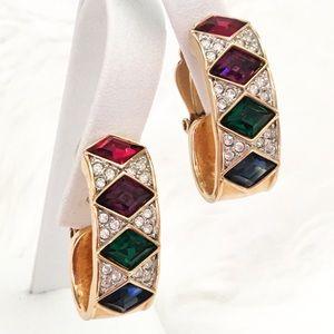 Swarovski Crystal Earrings Glamorous Mogul Huggers